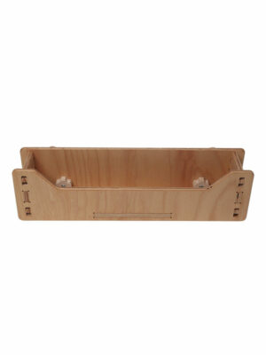 wooden storage shelf for educative play