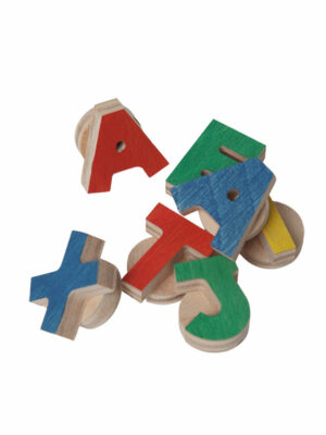 set of magnetic alphabet letters for montessori learning tower