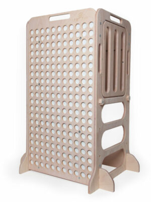 white wooden educative learning tower