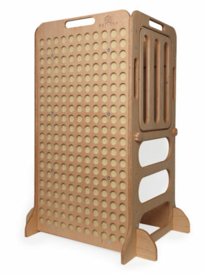 natural wooden learning tower for kids education