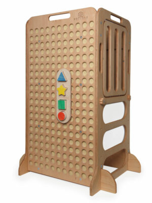montessori wooden puzzles for kids on learning tower
