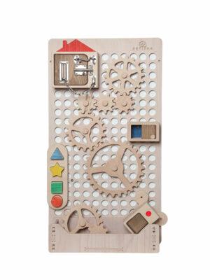 montessori light wood activity board