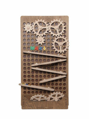 wooden activity board for kids with games